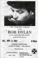 BOB DYLAN REPRO 1961 NEW YORK CARNEGIE HALL 4 NOV CONCERT PROGRAMME . NOT CD DVD
