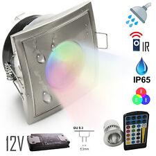 Faretto IP65 ambienti umidi 12V LED 5w incasso box doccia bagno RGB cromoterapia