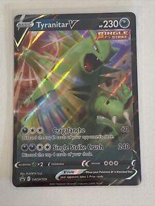 Tyranitar V Black Star Promo Pokemon Card - SWSH109 - SIngle Strike
