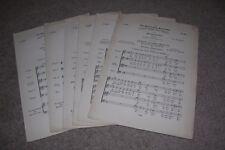 6 Pieces Bach Choir Antique Sheet Music pub. Novello, Ewer & Co