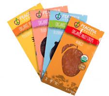 Organic Fruit Snacks by Peaceful Fruits 24ct: Peach, Blueberry, Pineapple, Mango