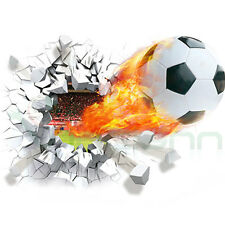 Wall sticker adesivo Pallone Calcio parete goal palla fuoco decorazione muro
