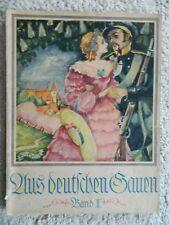 Aus deutschen Gauen, antiquarische Klaviernoten + Text, 1927, Elite Edition Leip