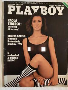 PLAYBOY ITALIA 1 GENNAIO 1976 + POSTER PAOLA TEDESCO ORIANA FALLACI ORIGINALE