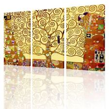 Tree Of Life by Gustav Klimt   Canvas (Rolled)   3 Panels Wall art painting HD