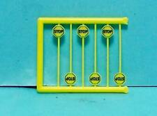 N Scale Tichy Train Group Scenery Accessories 6 Pcs Early Yellow Stop Signs 3N