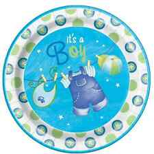 """New Baby Boy Baby Shower Cake Topper 7.5"""" Edible Wafer Paper Can Personalise!"""