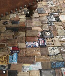 Denim Jean Label Rug Carpet Artisan Made One Of A Kind