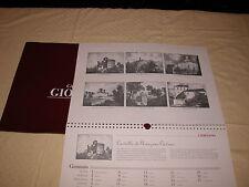 Calendario Giordano 1996 con litografie e stampe di sei