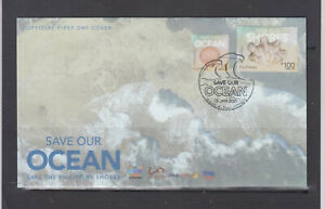 Philippine Stamps 2020 (2021) Save our Ocean/Shores, Complete set, (P14, P100)