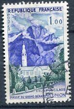 FRANCE TIMBRE OBL N° 1241 EGLISE DE CILAOS A LA REUNION MASSIF GRAND BENARD
