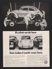 1972 VOLKSWAGEN BEETLE -  BUG - It's What We Do Here -  VINTAGE AD