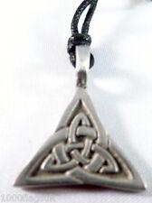 Pewter Pendant p702 Celtic Cross Interlaced Triangle