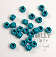 Teal Pearl 9x6mm Pony Beads 500pc made in USA for crafts hair kandi VBS jewelry
