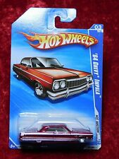 2010 Hot Wheels Hot Auction Metallic Red/White Trim '64 Chevy Impala