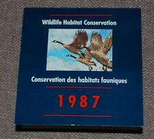 Canada Wildlife Habitat Conservation (Ducks) 1987 complete booklet
