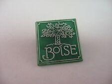 BOISE Vintage Green Pin Beautiful Tree Design