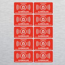 10 Aufkleber Gebäude Alarmgesichert, Alarmanlage, Sicherheit 5 x 3 cm