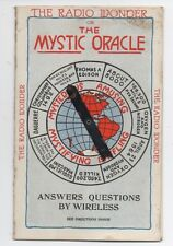1923 The Radio Wonder or Mystic Oracle Spinner Card Answers Questions