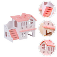 Hamster Hideout Hamster House Double-storey Pet Wooden Hut Play Toy