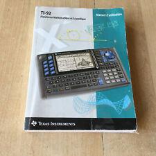 manuel d'utilisation pour Calculatrice TI 92 - texas instruments