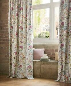 Voyage Maison Country Hedgerow Cotton Blend Lined Pencil Pleat Curtains