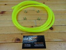 "ELECTRIC YELLOW 1/4"" FUEL LINE KIT FOR SNOWMOBILE DIRT BIKE ATV MOWER MOTORCYCLE"
