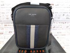 TED BAKER Mini Flight Bag KONDOR Stripe Webbing Chocolate Shoulder Body Bags New