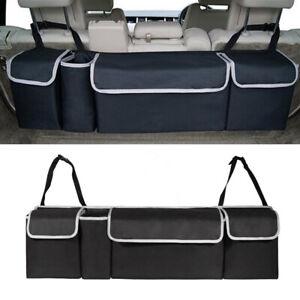 1* Car Trunk Organizer Car Interior Accessories Back Seat Storage Box Bag Oxford