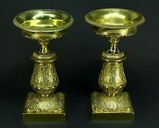 * SUPERB c.1795 FIRST EMPIRE Bronze Dore' Pair Cassolettes Urns, Tazzas