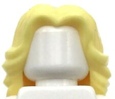 Lego New Bright Light Yellow Minifigure Hair Female Wavy Center Part Blonde