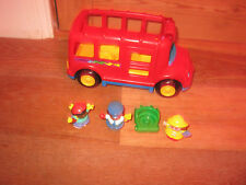 FISHER PRICE LITTLE PEOPLE SOUNDS SCHOOL PUSHALONG BUS COACH OPEN DOORS PLAYFIG