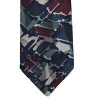 "Oscar de la Renta VINTAGE Abstract Neck Tie 4 X 56"" Polyester Silk Blend USA"