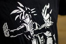 DRAGON BALL Z PULP FICTION Goku Vegeta black funny design men t shirt  many size