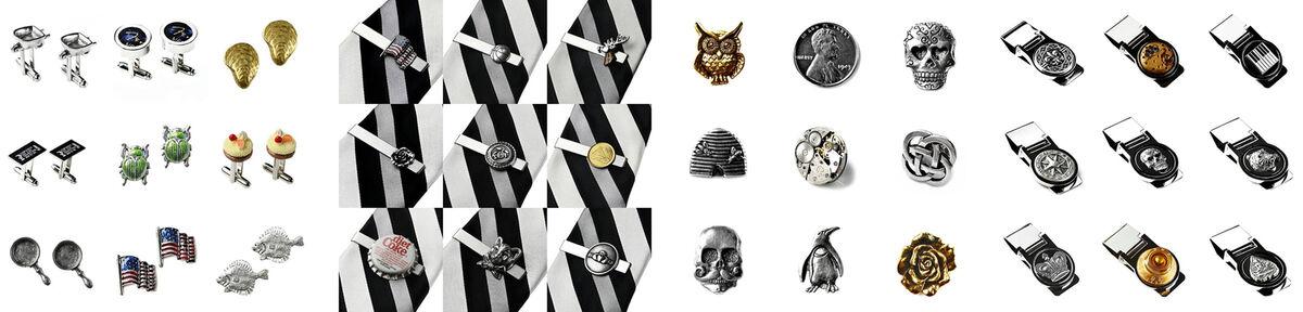Cufflinks - Tie Clips - Lapel Pins
