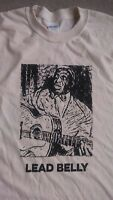 Lead Belly T Shirt Blues guitar vintage style bb king hand printed sm-5xlg tan