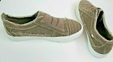 New Pop Jones Taupe Canvas Comfort Fit Slip On Womens Size 7.5