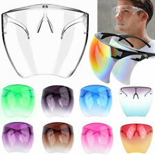 Clear Face Shield Glasses Face Mask Transparent Reusable Visor Anti-Fog Dust Usa