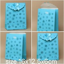 Glitter Snowflake Turquoise Gift Box Christmas Wrapping self adhesive bow top