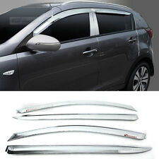 Chrome Window Sun Vent Visor Rain Guards 4P A477 For KIA 2011-2016 Sportage R