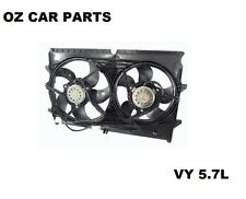 HOLDEN COMMODORE VY V8 5.7L DUAL RADIATOR FAN WITH MOTORE 2002 - 2004 5 PIN PLUG