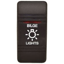 Carling Boat Rocker Switch Cover | Bilge Lights Black Illuminated