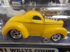 YELLOW 1941 41 WILLYS COUPE 2002 FUNLINE MUSCLE MACHINES 1/64 diecast car