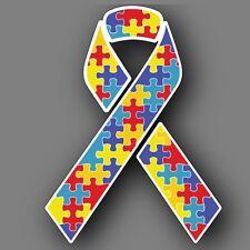 "Autism Awareness 8"" Ribbon Vinyl Decal Sticker Car Truck"