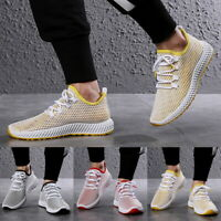 Mens Summer Mesh Breathable Slip On Shoes Trainers Openwork Sneaker Casual Shoes