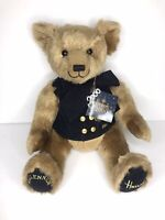 Harrods Millennium Teddy Bear 2000 Fully Jointed Stuffed Animal Tags Plush