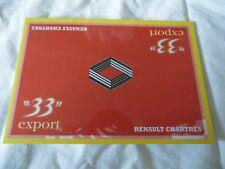 "*RARE* 1:43 RENAULT ""33"" EXPORT CARD Rally Race Motorsport"