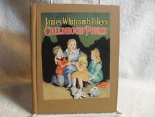 James Whitcomb Riley's Childhood Poems Ethel Bonney Taylor Illustrated 1940 Book