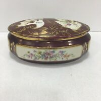 VNT Limmen Candy Dish Trinket Made In France  Hand Painted