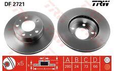 TRW Juego de 2 discos freno Antes 280mm ventilado CITROEN JUMPER PEUGEOT DF2721
